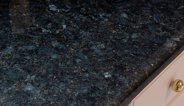 verde peacock granite counter